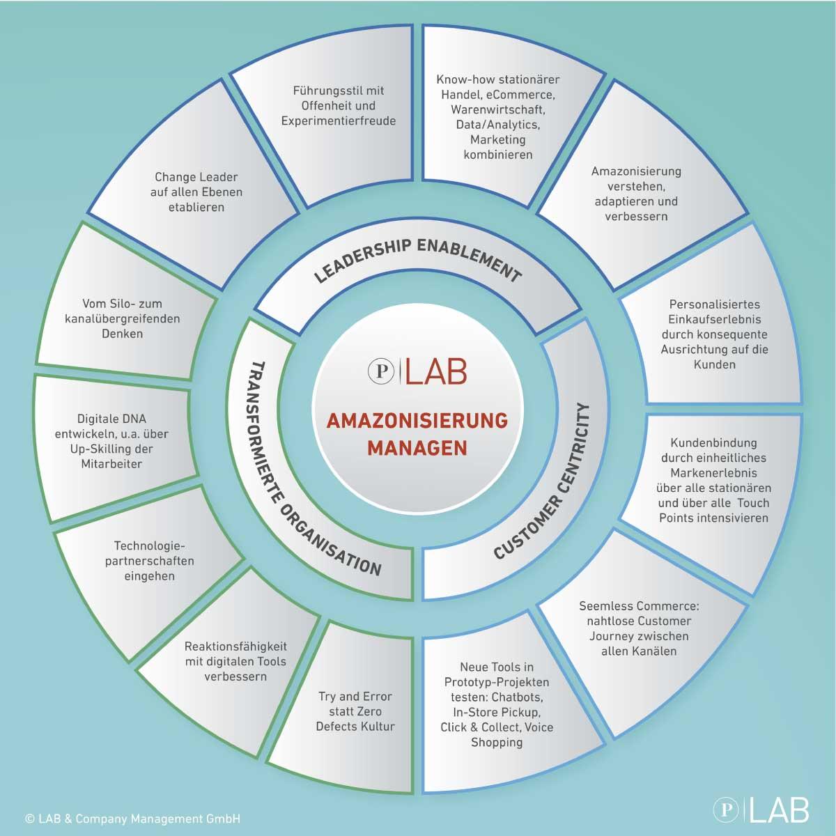 Amazonisierung Managen - Infografik LAB & Company
